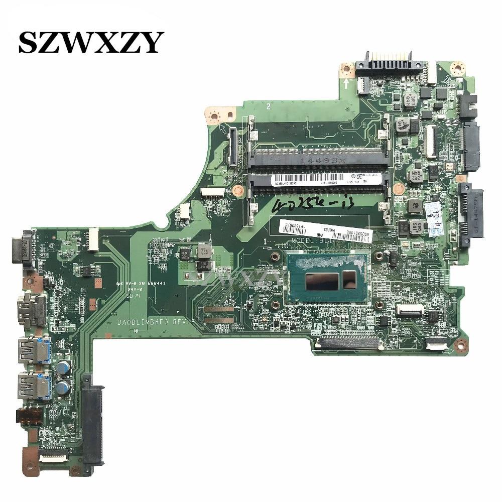 High Quality For Toshiba L55T B L55 B L55T Series Laptop Motherboard A000301390 DA0BLIMB6F0 With i3