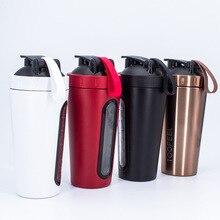 700ml Creative Stainless Steel Protein Shaker Shake Milkshake Mixing Cup Outdoor Sports Fitness Sport Bottle BPA Free