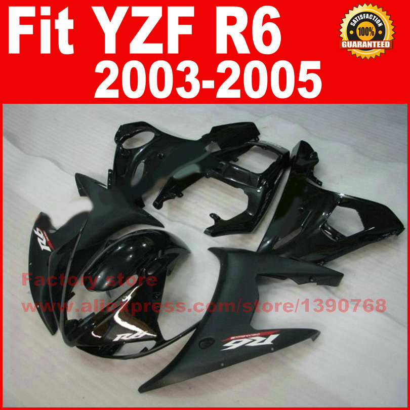 Motorcycle body fairings kit for YAMAHA R6 2003 2004 2005 YZF R6 03 04 05  matte glossy black fairing bodywork part motorcycle part front rear brake disc rotor for yamaha yzf r6 2003 2004 2005 yzfr6 03 04 05 black color