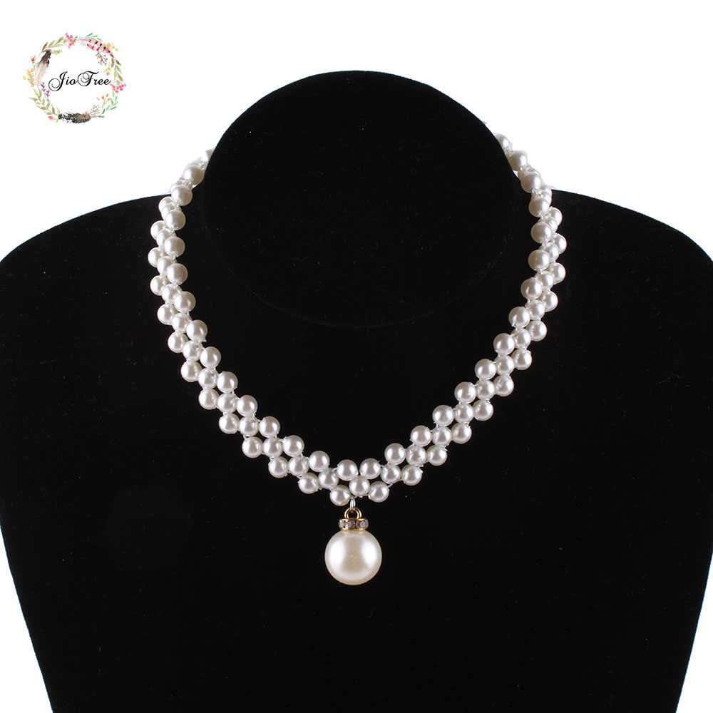 Woven simulated pearl necklace bridal wedding Necklaces  accessories fashion Necklaces For Gift Party Wedding Engagement