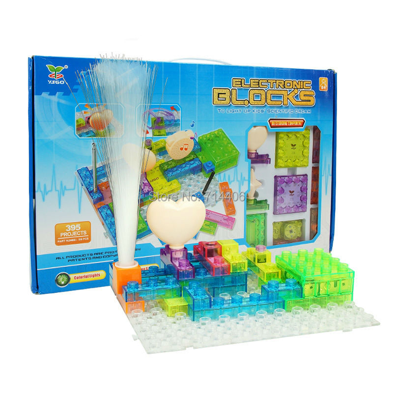 Education&learning toy set electronic building blocks integrated circuit assembled toys 395 projects,children's scientific kit