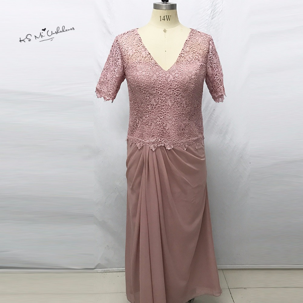 Old Pink Plus Size Mother Of The Bride Dresses 2017 Lace