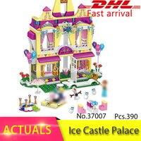 2017 Princess Series Building Block Princess Anna Ice Castle 37007 Figure Bricks Toys 390 Pcs Compatible