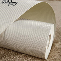 Simple Vertical Stripes Covered With Non Woven Fabric Wallpaper Bedroom Living Room TV Background Wall Paper
