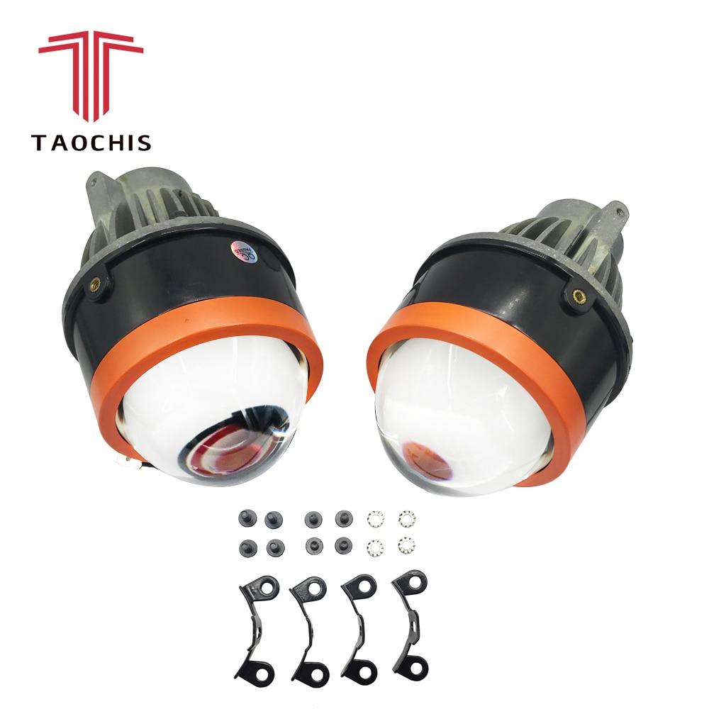 TAOC Здравствуйте S 3,0 светодио дный дюймов Bi LED авто-Стайлинг противотуманная фара проектор Объектив Здравствуйте/Lo универсальная противотум...