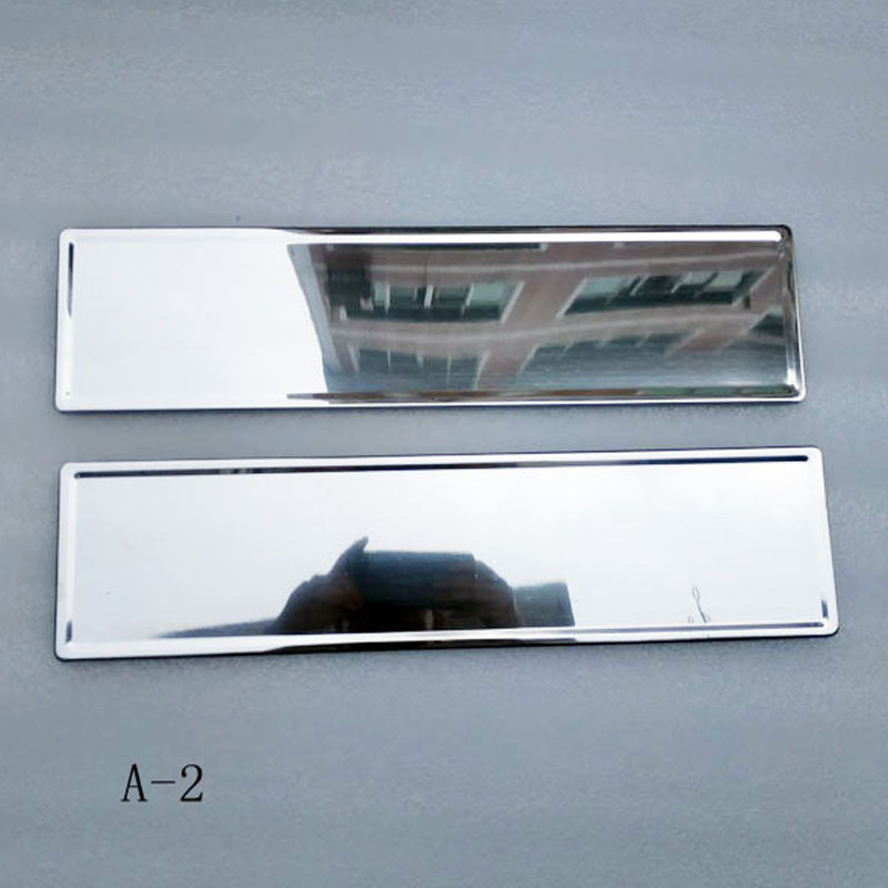 Image 2 - For EU Car License Plate Frame metal Car License Plate Frame Number plate Holder 2pcs-in License Plate from Automobiles & Motorcycles