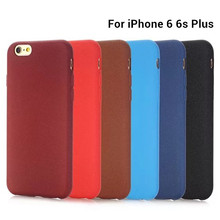 Супер Мягкие TPU Матовая Case Для Iphone 6 6 s plus 5 5S тонкий Матовый Задняя Крышка Protect Fundas Кожи Силикона Coque 7 плюс Телефон Case