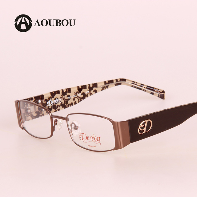 1eb06893a51 AOUBOU Designer Glasses Men Brown Optical Stainless Steel Frames TR90 Legs  Computer Myopia Glasses Frame Lunette