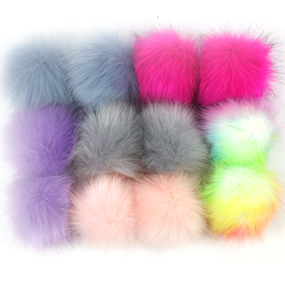 Ball Pompom Hat Artificial-Wool-Ball Handmade False-Hairball Cap-Accessories Wholesale