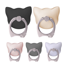3D Cat Shape 360 Degree Finger Ring Mobile Phone Stand Holder for Samsung Huawei Xiaomi Phones