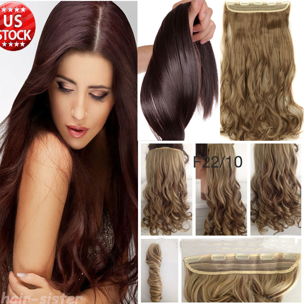 Aliexpress buy 120 200g 100 thick hair professional one aliexpress buy 120 200g 100 thick hair professional one piece clip in hair extensions full head 5 clips on natural hair extension human made from pmusecretfo Images