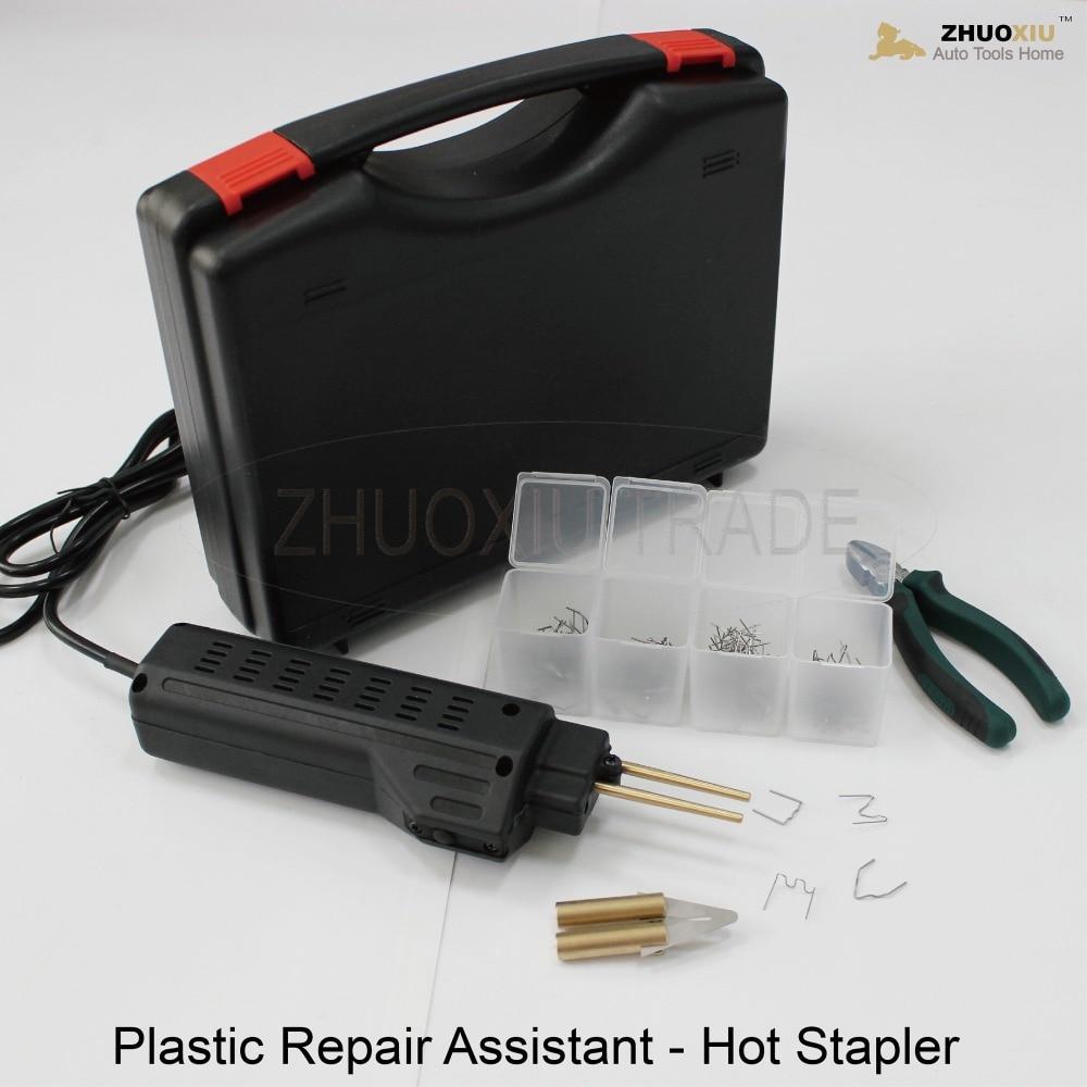 220V Hot Spot stapler Welder auto car plastic bumper damage welding repair kit solda plastica staple staples stainless steel