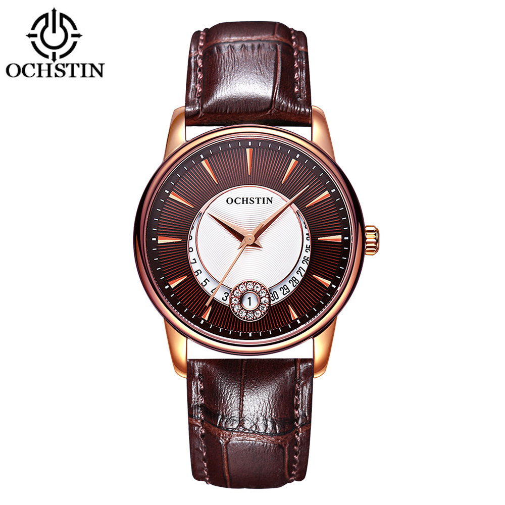 OCHSTIN Brand Luxury Genuine Leather Quartz Casual Womens Watches Fashion Unique Ladies Wristwatch + Watch BoxOCHSTIN Brand Luxury Genuine Leather Quartz Casual Womens Watches Fashion Unique Ladies Wristwatch + Watch Box
