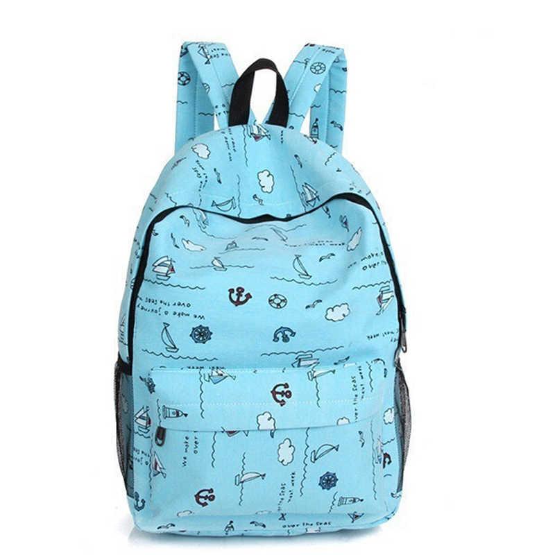 Модные рюкзаки с принтом женские холщовые школьные рюкзаки сумки для девочек-подростков рюкзак для ноутбука сумка дорожная сумка розовый рюкзак