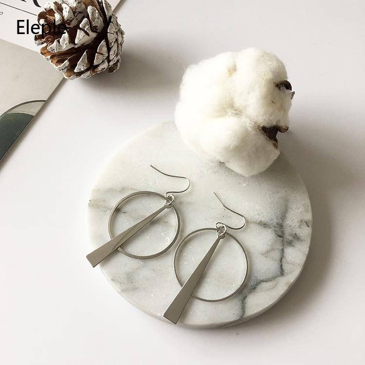 Eleple Simple Design Retro Long Geometric Circle Earring Wholesale Women Party Gifts Ear rings for Women C5021 in Drop Earrings from Jewelry Accessories