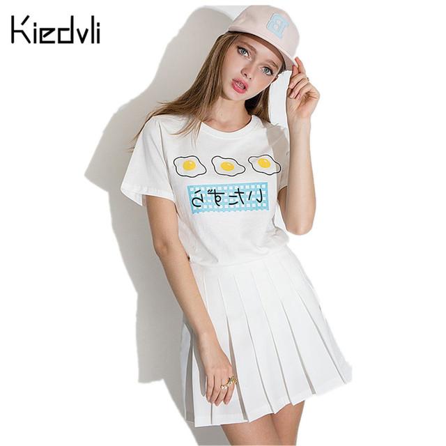 Harajuku Camiseta Japón Kawaii Linda Camisa de Algodón Tops Tees Poleras Summer Girls School Moletom Feminino Polerones D0294