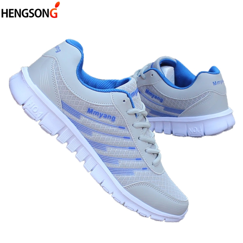Fitness Sneakers Women casual shoes fashion breathable Walking mesh lace up flat shoes sneakers women 2018 tennis feminino