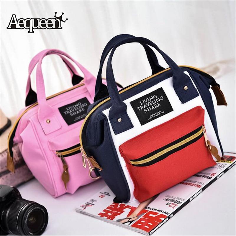 Japan Schoolbags Small Canvas Backpacks College Shoulder Bags Dual Use Rucksack Girls Back Pack Bookbag