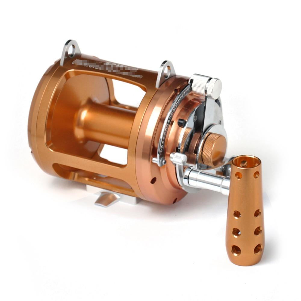 2 Speed Fishing Reel Trolling Fishing Reel Match Fishing Lever Drag Reel