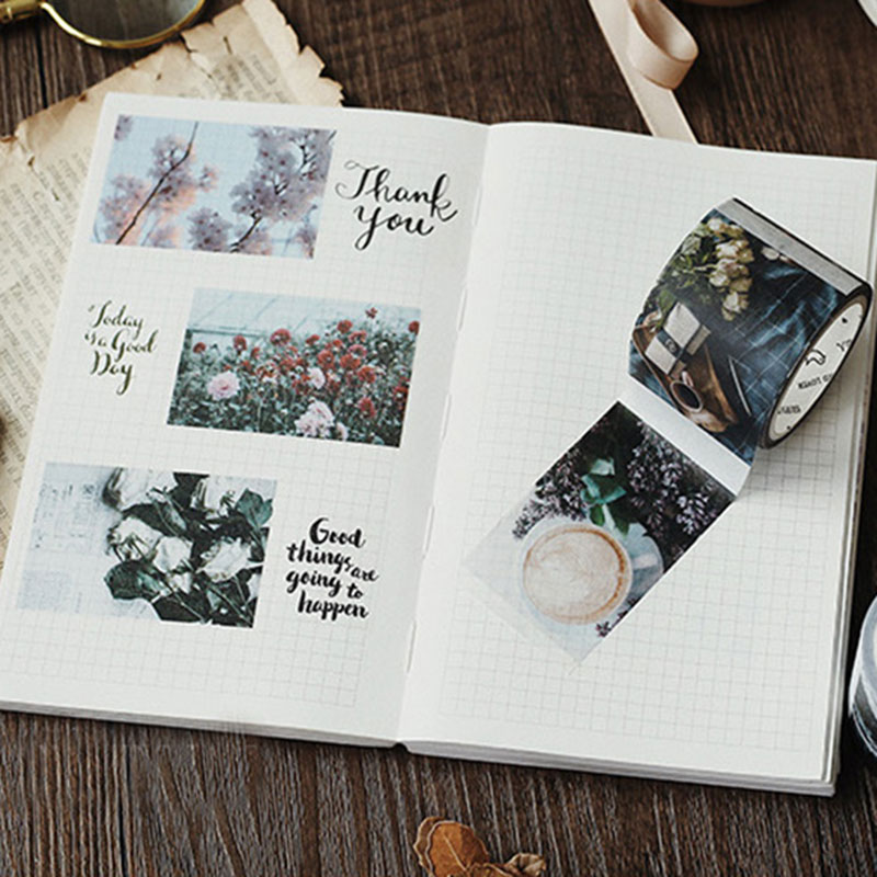 Life collage series washi tape DIY Decorative scrapbooking stickers album Scrapbook masking tape adhesive tapes in Stickers from Home Garden