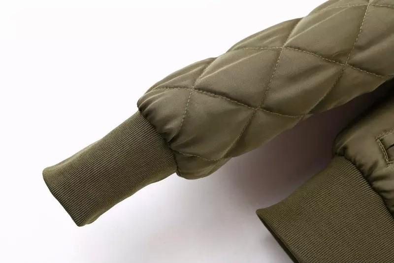 V-neck Zipper Bomber Aviator Baseball Jacket