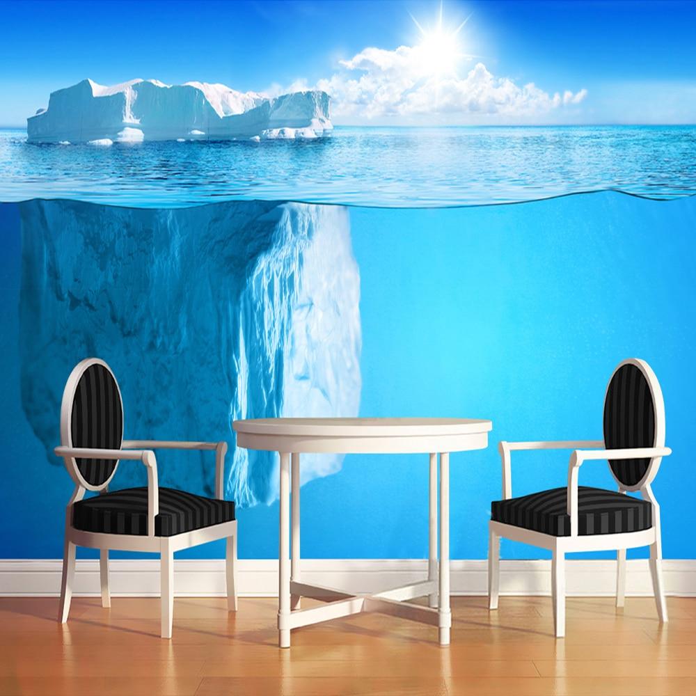Custom 3D Photo Wall Paper Antarctic Ocean Iceberg Modern Art Stereoscopic Mural Wallpaper Living Room Papel De Parede 3D Sala iceberg eau de iceberg man cedar 100