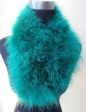 women winter fur scarf natural ostrich feather autumn fashion color warm ladies Bohemia style S49