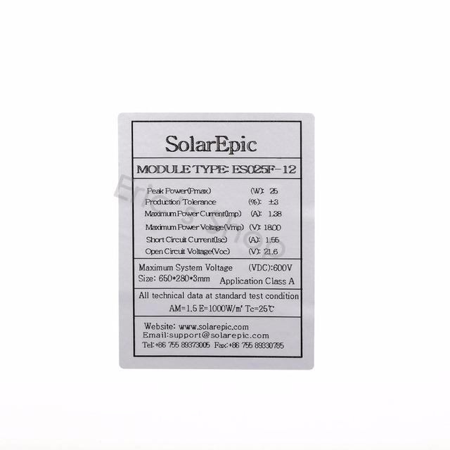 25W 12V Solar Panel Use For Outdoor Activity  Efficient Flexible Automotive  Monocrystalline Silicon Solar Cells