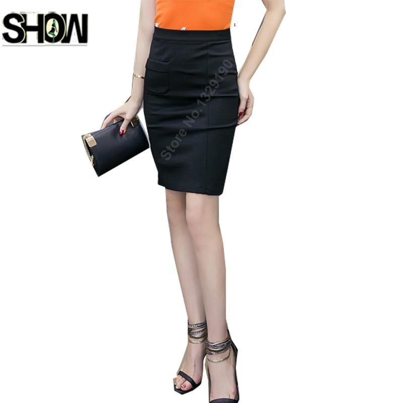 f0ac856ca770c5 Slim Fit Pencil Skirts High Waist Style Women Design Elegant Office Lady  Red Black Mini Work Formal Bandage Bodycon Skirts 1348