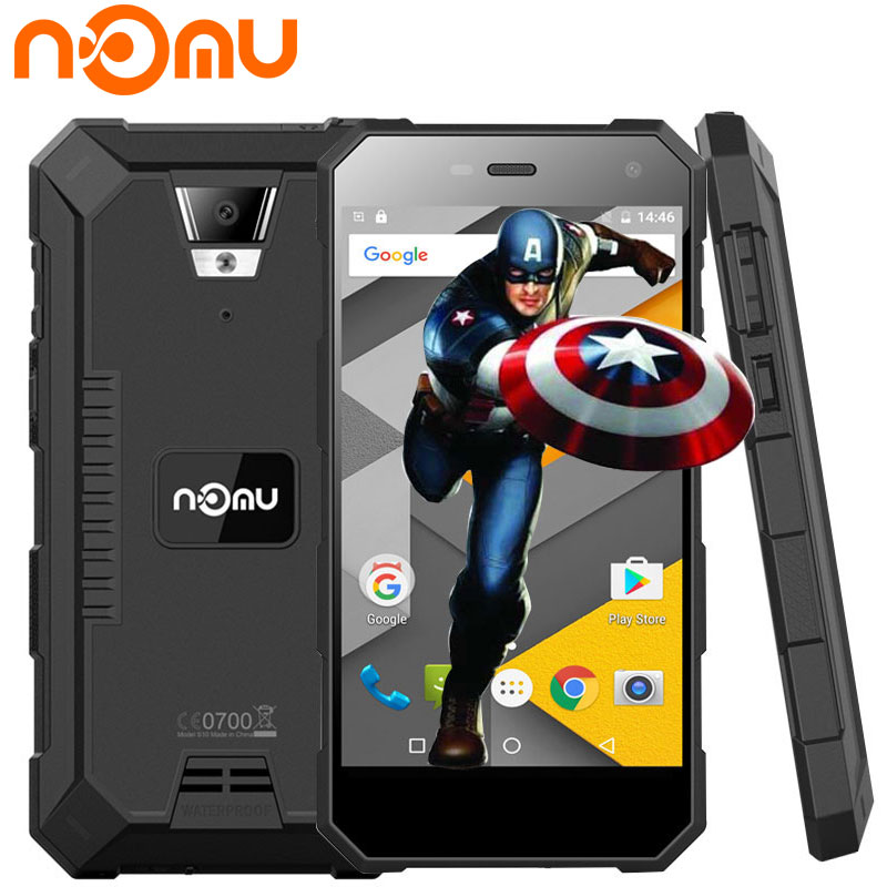 Originale Nomu S10 IP68 Impermeabile Cellulare Android 6.0 Quad Core 1280x720 8.0MP 5000 mAh 5 Pollice 4G LTE Smartphone Antiurto