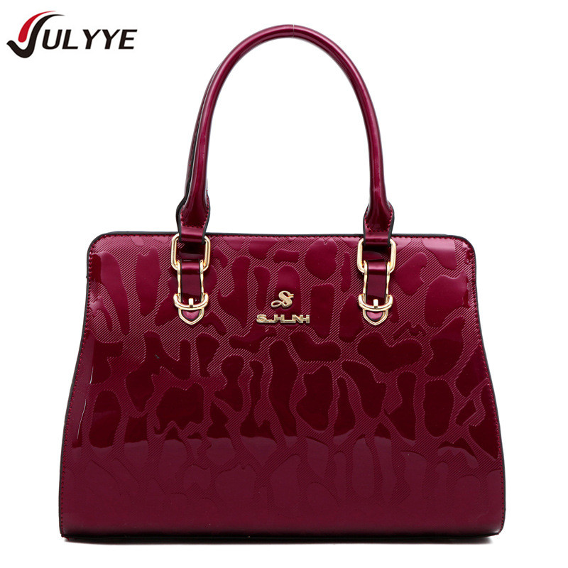 YULYYE New Fashion Brand Vintage Patent Leather Women Handbag Europe and America Style Cow Leather Shoulder Bag Casual Women Bag patent leather handbag shoulder bag for women