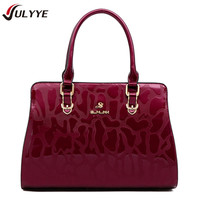 YULYYE New Fashion Brand Vintage Patent Leather Women Handbag Europe and America Style Cow Leather Shoulder Bag Casual Women Bag