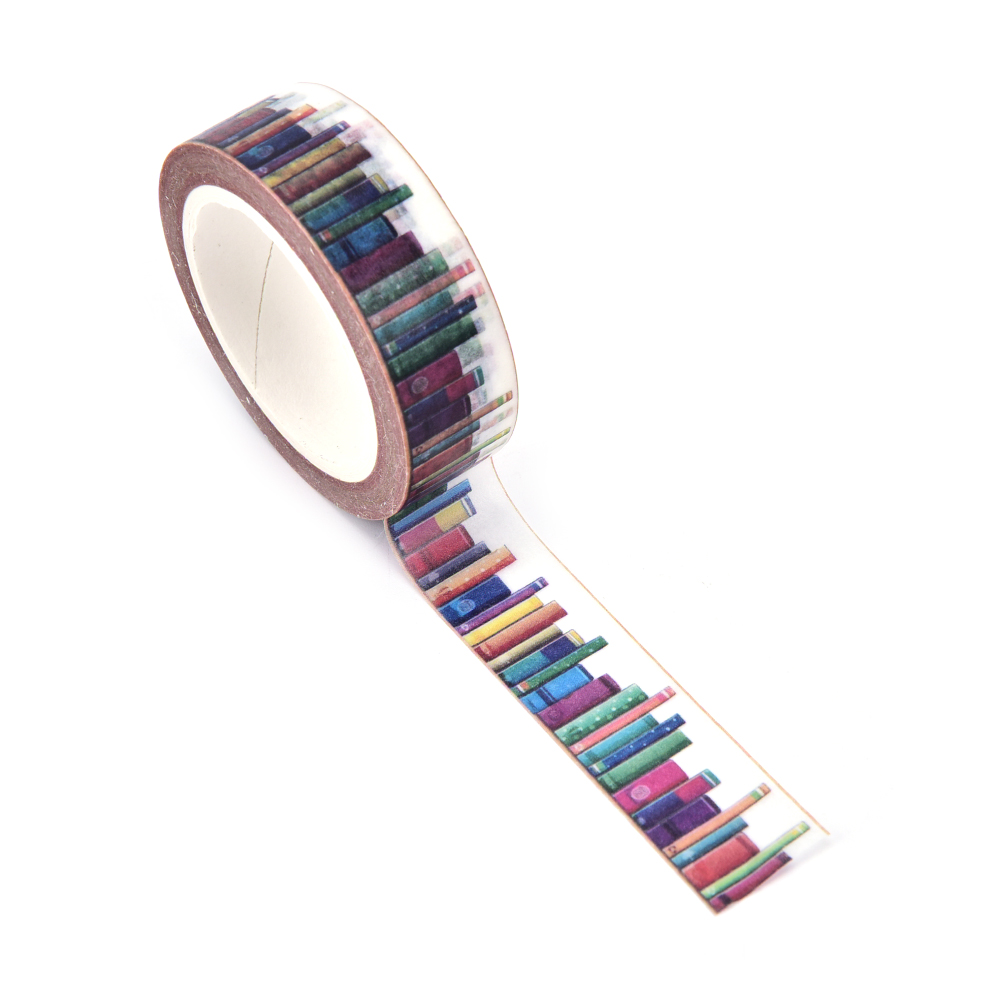 15mm Diy Library Washi Tapes Decorative Adhesive Tapes School Supplies Be Friendly In Use 10m Tapes, Adhesives & Fasteners