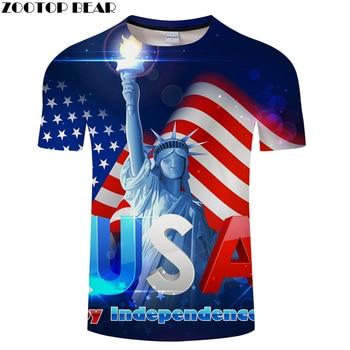 Azul 3D Camiseta bandera t camisa hombres mujeres Camiseta Harajuku Tee superior marca de manga corta Camiseta pantalón corto casual Camiseta de la nave de la gota ZOOTOPBEAR