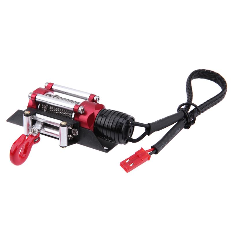 Model Car Automatic Winch+Wireless Remote Control+Metal HookSet RC Crawler Rock Car Climbing Car Parts for 1/10 Axial SCX10