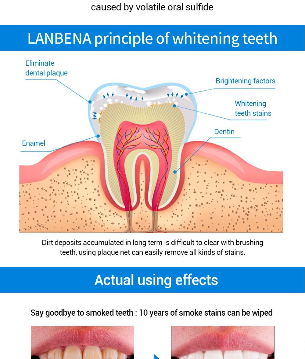 Lanbena Zähne Bleaching Essenz Pulver Oral Hygiene Reinigung Serum Entfernt Plaque Flecken Zahn Bleichen Dental Werkzeuge Zahnpasta Schönheit & Gesundheit