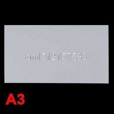 3mm White Plastic Acrylic Plexiglass Perspex Sheet A3 Size 297mm x 420mm
