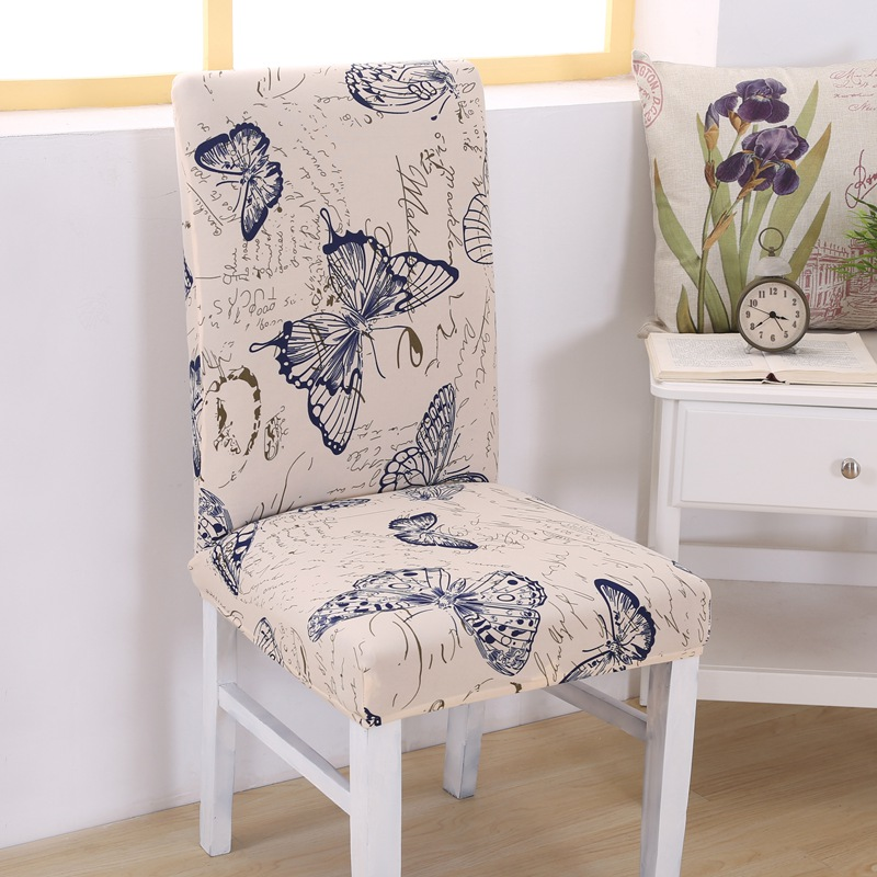 Pleasant Us 4 78 30 Off Tox Elastic Vintage Butterfly Beautiful Flowers Pattern Chair Covers Dustproof Stretch Modern Decoration Dining Party Seat Cover In Bralicious Painted Fabric Chair Ideas Braliciousco
