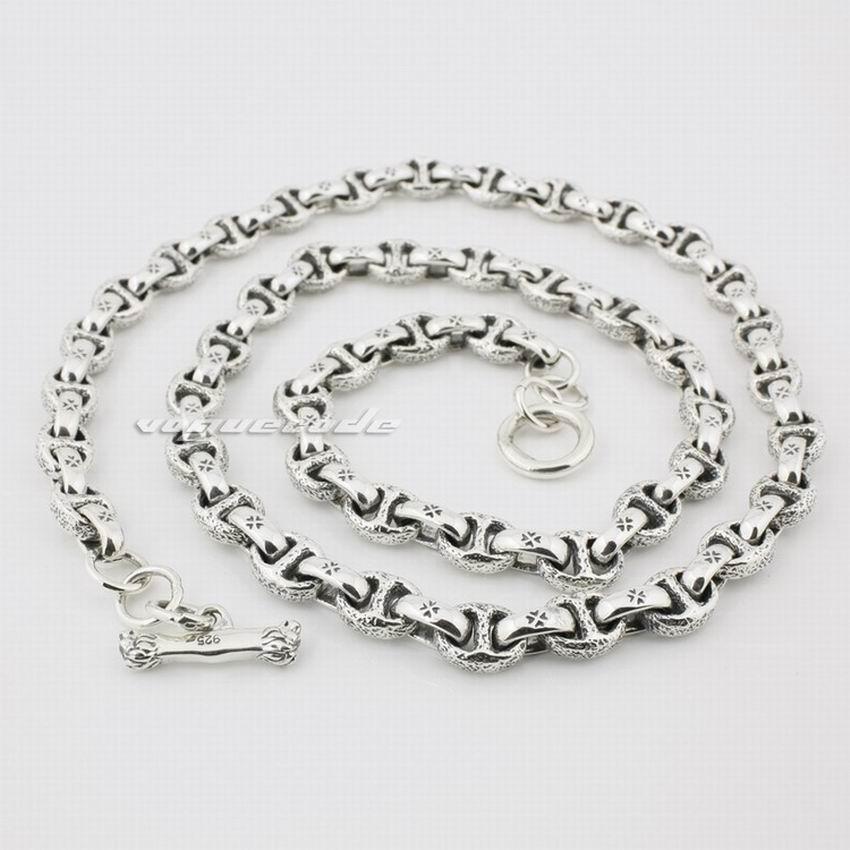Image 2 - 925 Sterling Silver Mens Biker Necklace 8L008biker necklacesilver menmens sterling silver necklace -