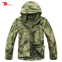 Army Camouflage Men Jackets Soft Shell Jackets Shark Skin Coat Military Tactical Jacket Winter Waterproof Combat Hunt Clothes
