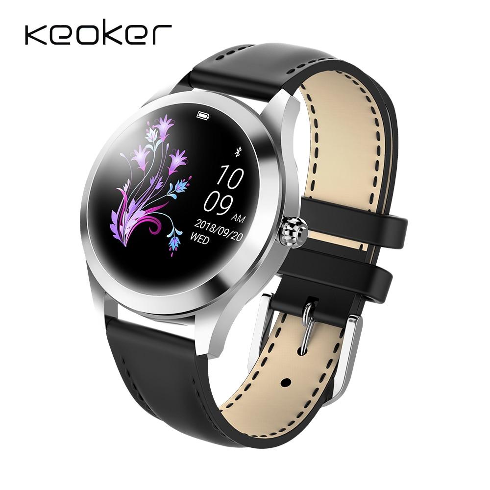 Unterhaltungselektronik Vornehm Keoker Smart Uhr Frauen Ip68 Wasserdicht Mode Dame Nachricht Anruf Erinnerung Smart Uhr Für Android Ios Telefon Angenehme SüßE