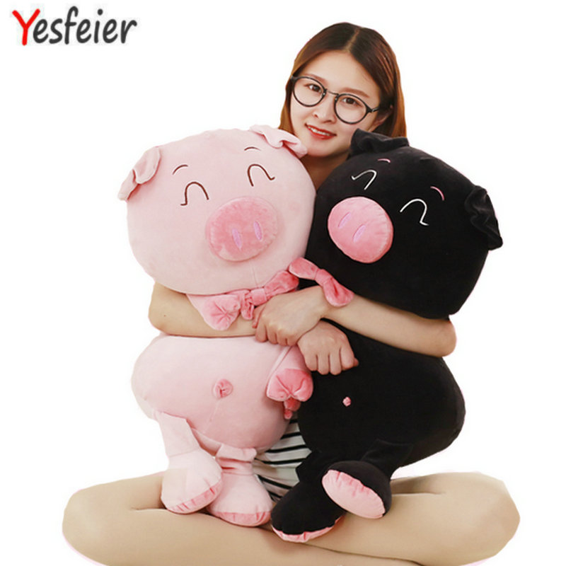 Cartoon plush Down cotton soft Cute soft lovers pig plush Hold pillow Cushion stuffed toy romantic gift for baby plush toys