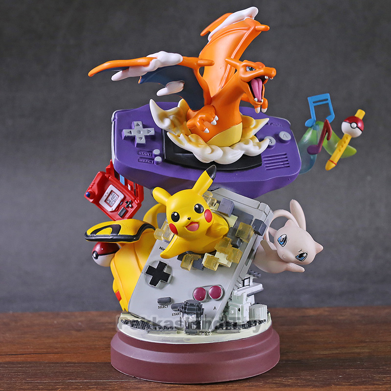 Anime Monster Mew Pikachu Charizard Resin Statue Figure Action Toys For Collection Christmas Model Gift