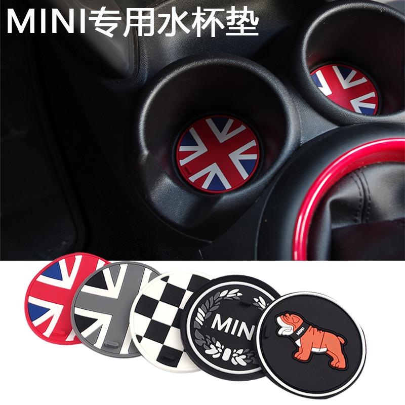 Jack Union Silica Gel Anti-slip Car Cup Mat Pad Coaster For Mini Cooper One+ S Clubman Countryman R55 R56 R60 R61 F56 F55 F60