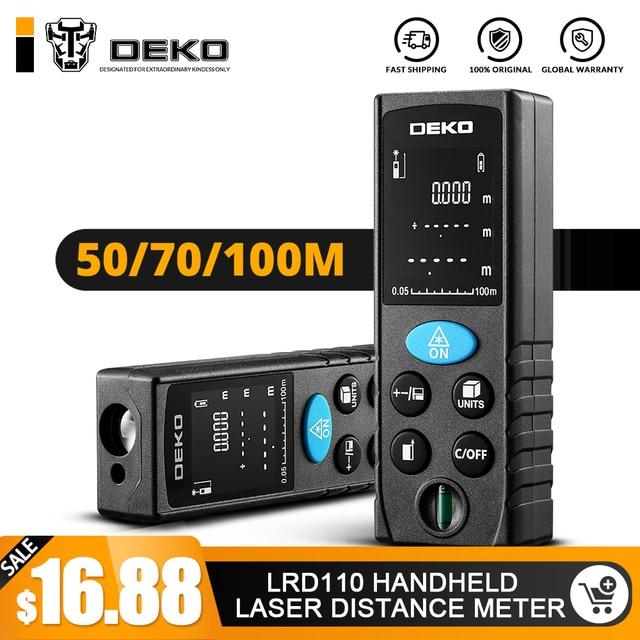 DEKO LRD110 Ручной лазерный измеритель расстояния 40 м 60 м 80 м 100 м Мини лазер лазерный дальномер ленты дальномер диастиметер измерения