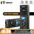 DEKO LRD110 Handheld Laser Distance Meter 40M 60M 80M 100M Mini Laser Rangefinder Laser Tape Range Finder Diastimeter Measure