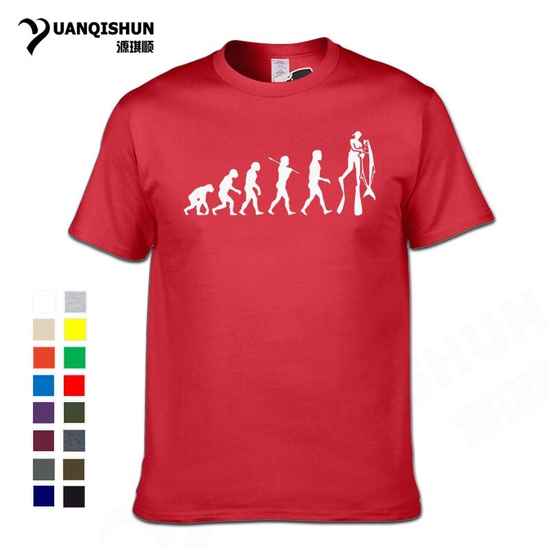 Evolution Freediving Free Diving Speargun Mask Silhouette Printed T-shirt New Fashion Summer  T Shirt Freedivinger Freediver