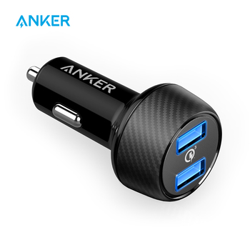 Anker PowerDrive Speed 2 39W Dual USB Car Charger,Quick Charge 3.0 for Galaxy,PowerIQ for iPhone Xs/XS Max/XR/X/8/7/6/Plus etc