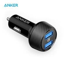 Anker powerdrive velocidade 2 39 w carregador de carro usb duplo, carga rápida 3.0 para galaxy, poweriq para iphone 11/xs/xs max/xr/x/8 e mais