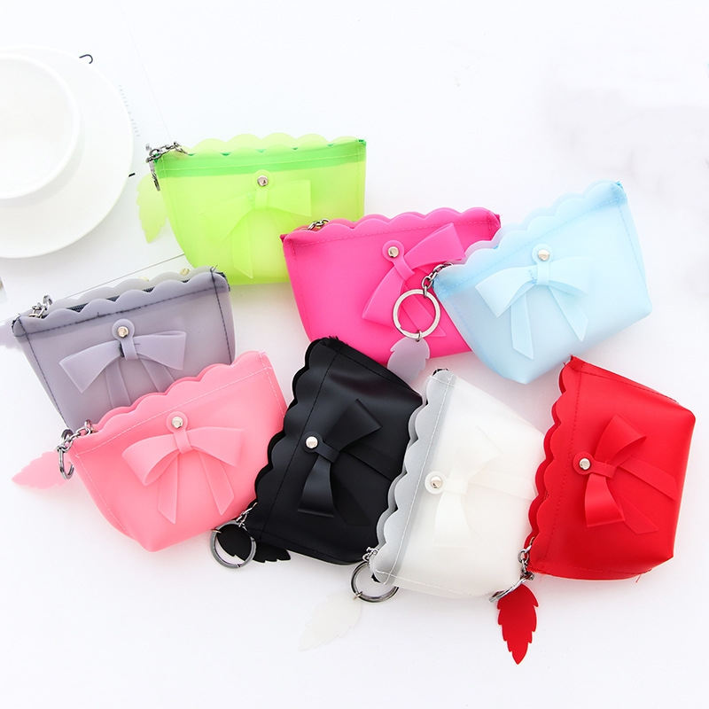 Korean Candy Color Cute Small Silicone Mini Coin Purse Bag Women Silicone Bow Knot Key Change Pouch for Children Kids Gifts бампер задний ваз 2112 купить в киеве